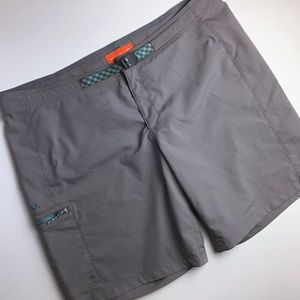 Merrell   Men's Gray Unlined Swim Trunks Size 38